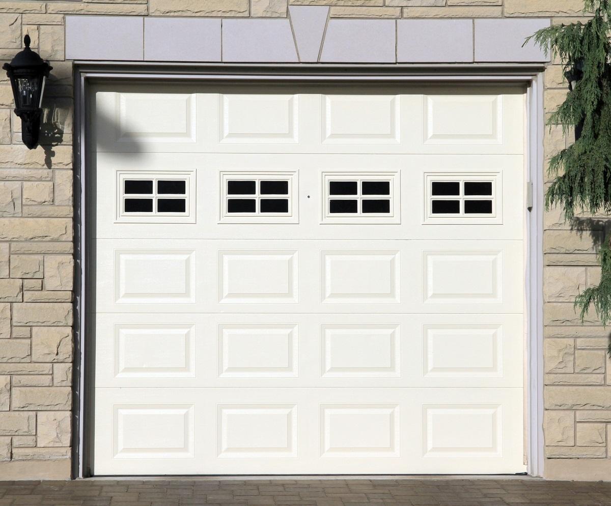 closed garage door exterior